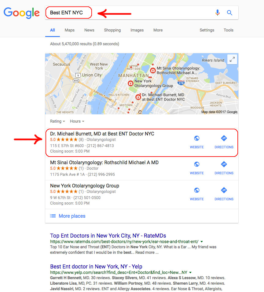 best-ent-doctor-google-marketing-seo-nyc